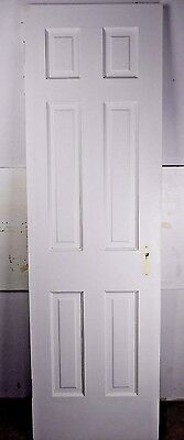"Antique Vintage 6 Panel Interior Door 77-1/2"" X 23-1/2"" (P6) 1940's"