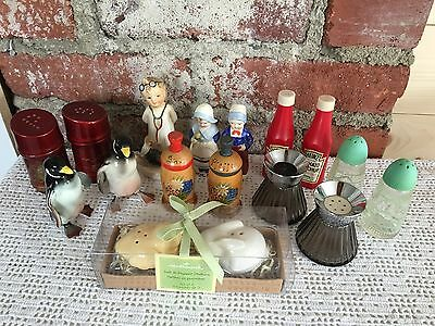 Vintage Salt and Pepper Shakers Lot - Nice Antique Assortment