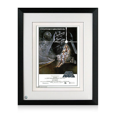 Darth Vader Signed And Framed Star Wars Poster Autographed Memorabilia