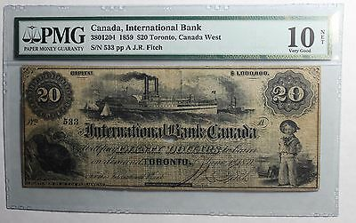 1859 $20 International Bank of Canada