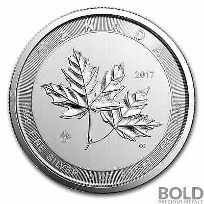 2017 Silver Canadian $50 CAD Magnificent Maple Leaf .9999 BU - 10 oz in Capsule