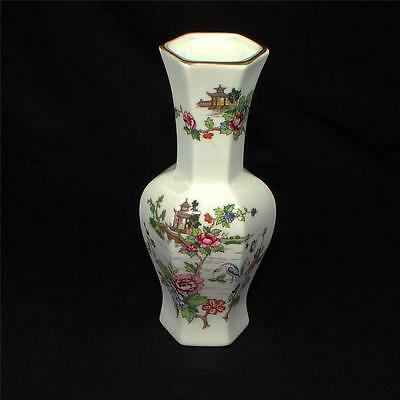Pretty BOXED vintage CROWN STAFFORDSHIRE china PAGODA pattern VASE