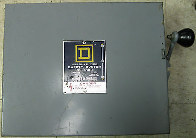 Square D Non Fusible Double Throw Safety Switch 30 Amp 240 VAC Cat#92351