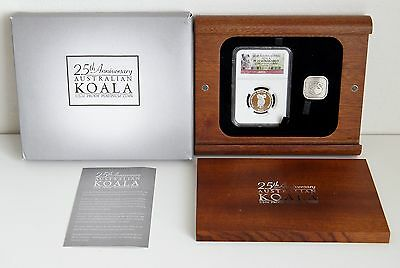 2013 25th Anniver Australian Koala 1/2 oz Proof Platinum Coin NGC PF 70 Box/COA
