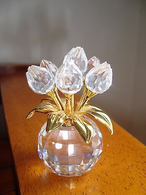 Swarovski Crystal Memories Gold Tulips - Flower Dreams 675656 NIB.