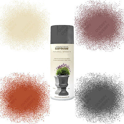 Rust-Oleum Natural Effects Textured Multi-Purpose Spray Paint Grey Red Bronze..