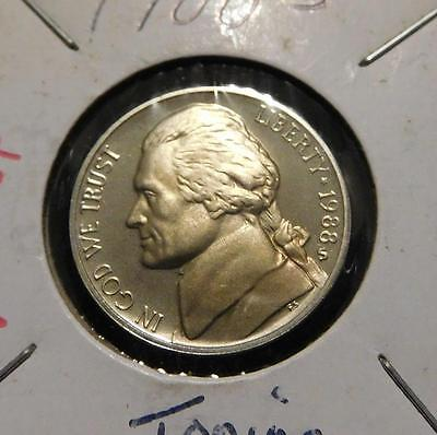 1988S Proof Jefferson Nickel / 5 Cents  Awesome Ultra Cameo             #MF-L