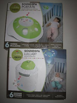 myBaby Soundspa Lullaby Sound Machine Projector/ Portable - Multiple Variations