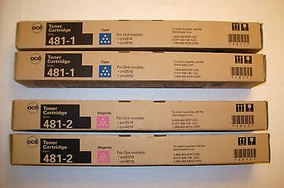 Set of 4 (2 each) New Genuine OCE 481-1 and 481-2 Toner