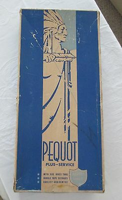 Antique PEQUOT 4 Percale Full or Double Sheet Unused w/ Labels Original Box
