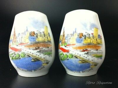1950's Melbourne Skyline Salt & Pepper Shakers - Westminster China