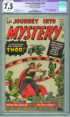 Journey into Mystery 83 CGC 7.5 VF- A-1 Marvel 1962 1st Appearance of Thor