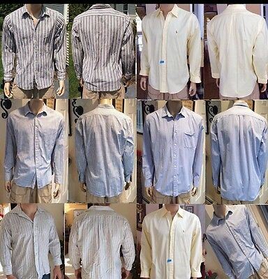 Men's Mixed Clothing Lot Of 5 Shirts Button Down J.crew, Ralph Lauren +