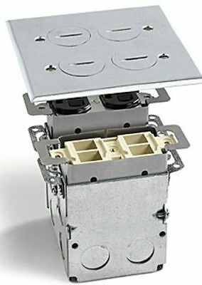 Lew Electric Swb-4-Pqa Floor Box & S.s  Cover  2 Gang