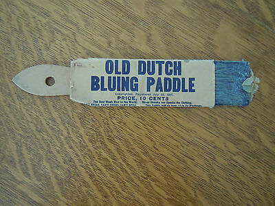 Vintage Laundry Room Decor OLD DUTCH BLUING PADDLE with Original Packaging