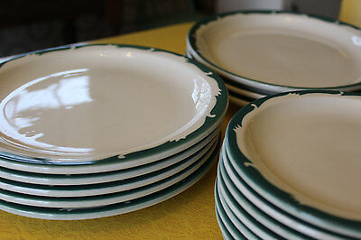 Set of Syracuse Restaurant Ware China, 18 Pieces Dinner Plates, Oval Platters