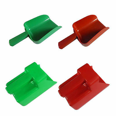 PLASTIC FEED SCOOP Red Green 1.5L 2.5L Horse Dog Livestock Feeding Feeder Grain