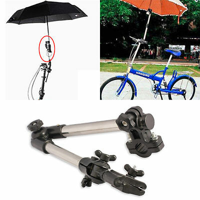 Umbrella Attachment Clamp Supporter Connector Pipe Bar Wheelchair Scooter Holder