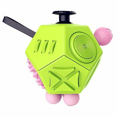 Kimilar 12 Sides Fidget Cube Spinner Toy Stress Anxiety Relieves Stress and and