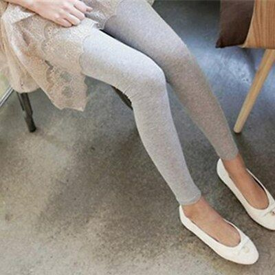 Womens Stretch Cotton Leggings High Waist Casual Long Render Pants Trousers