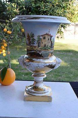 18th Century Hand-Painted Footed Porcelain Urn