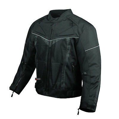 ProAir Motorcycle Jacket Waterproof with Armor Reflective Touring Mens Black