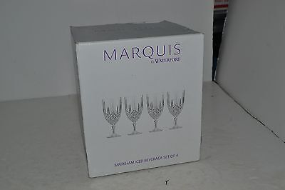 Marquis by Waterford Markham Iced Beverage Set of 3 Crystal Glasses - New