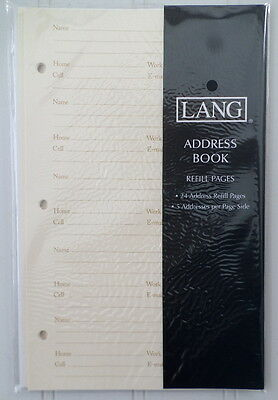 """Lang ~ 24 Address Book Refill Pages ~ Perfect Timing ~ 5.5"""" x 8"""" size ~ 0113100"""