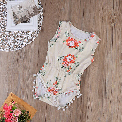 Newborn Infant Baby Girl Playsuit Bodysuit Romper Sunsuit Jumpsuit Outfit US