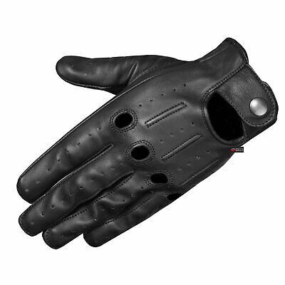Mens Transporter Genuine Lambskin Aniline Leather Driving Gloves Touchscreen