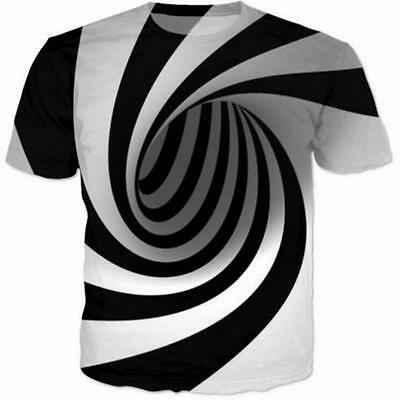 New Unisex Fashion Women's Men's Cool Hypnosis Funny 3D print T-Shirt Tops