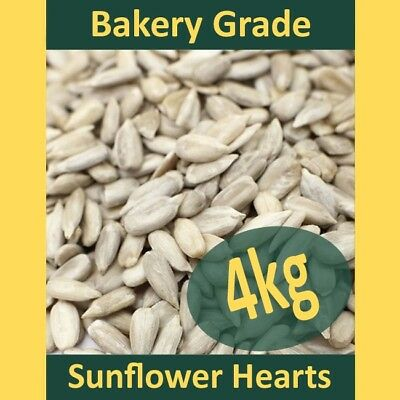 4kg Sunflower Hearts PREMIUM BAKERY GRADE Wild Bird Food Dehulled Seeds Kernels