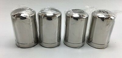 Steeltek Shaker Set of 4 Stainless Steel Salt Pepper  Cheese and Cocoa Shakers