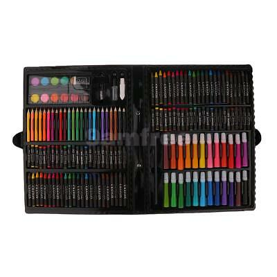 168pcs Kids Drawing Art Set Kit Painting Pen Color Pencils Pastels with Case