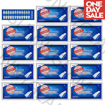 28 3D Teeth Whitening Strips Whitestrips Enamel Safe 14 Pouches!