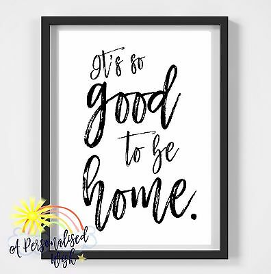 Inspirational Quote Poster Art Print A4 Typography Decor gift wall decor good to