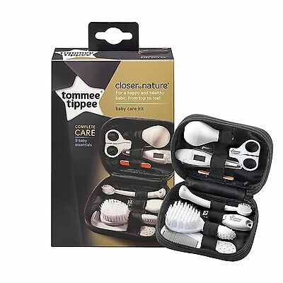 Baby Grooming Set Tommee Tippee Infant Nursery Travel Kit Thermometer Brush Comb