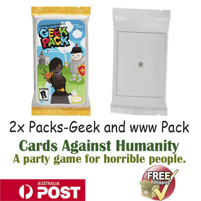 New Cards Against Humanity 2x Booster Expansion Pack Party Game Geek and www