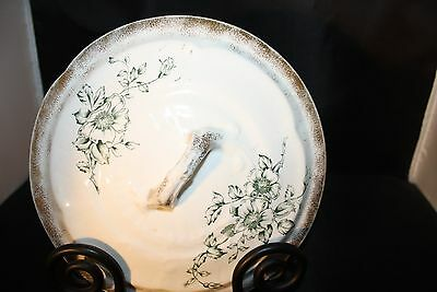 Vintage Chamber Pot Lid, Unknown Manufacturer, Ironstone?