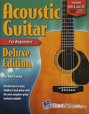Acoustic Guitar for Beginners Deluxe Guitar TAB Music Book with DVD & CD Method