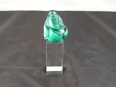 Small Chinese Carved Malachite Snuff Bottle, Double Gourd Shape, C. 20th Century