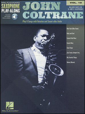 John Coltrane Saxophone Play-Along Sheet Music Book with Audio