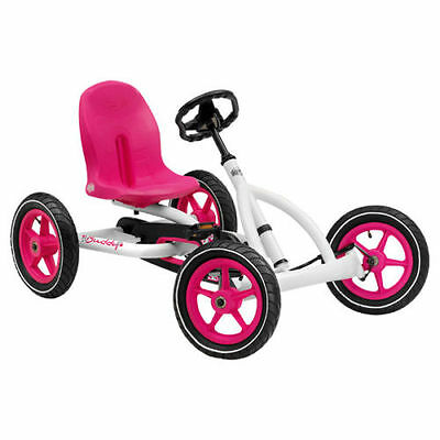 New Berg Toys Buddy Go Kart Pink White Age 3-8 Air Filled Tyres