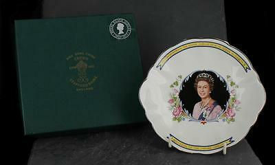 Excellent boxed CROWN STAFFORDSHIRE china 1977 JUBILEE commemorative DISH