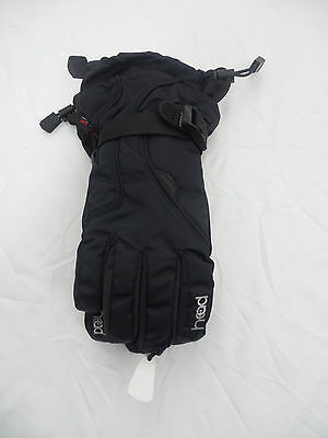 Head Youth Ski Gloves Black US Size L 10-14 NWOT