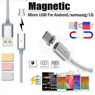 2.4 A Micro USB Charging Cable Magnetic Adapter Charger for Samsung Android LG#