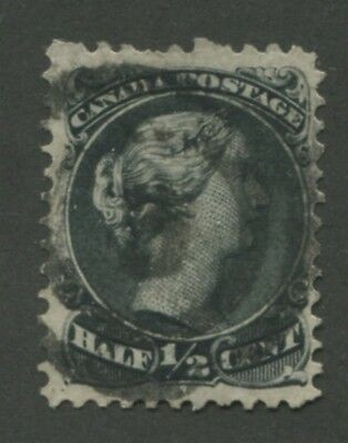 """Canada #21 Used Large Queen 2-Ring Numeral Cancel """"3"""" F/vf"""