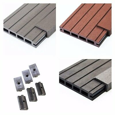 15 Square Metres of Wooden Composite Decking Inc Boards, Edging & Fixing Packs