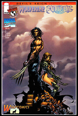 Devils Reign  #5 Cover B (1997 Series) , 1st Print , Wolverine / Witchblade , NM