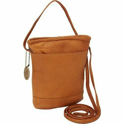 David King & Co. Top Zip Mini Bag 512, Tan, One Size